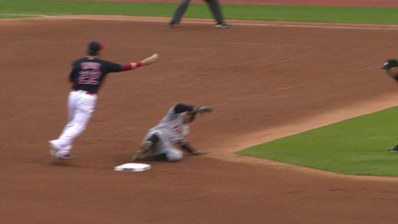 Uribe starts the double play