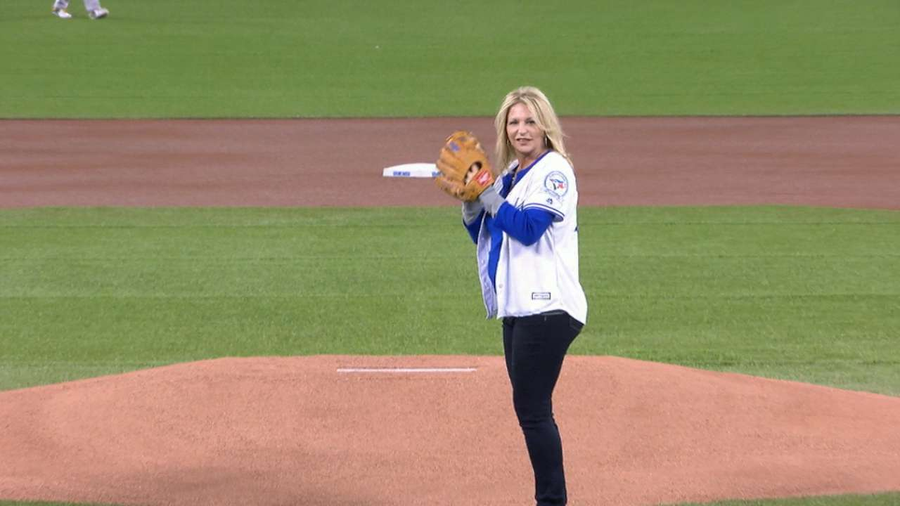 First pitch is Donaldson's early Mother's Day gift