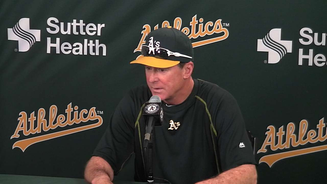 Melvin on A's 9-8 loss