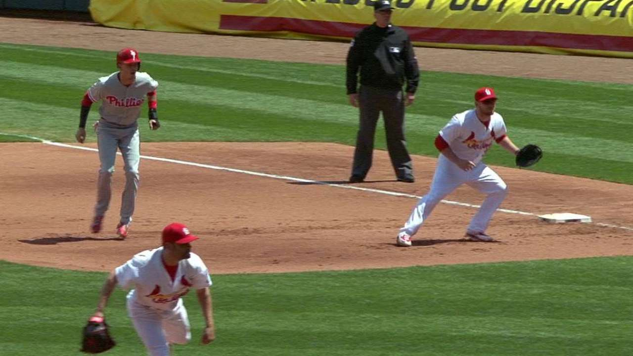 Cardinals complete a double play