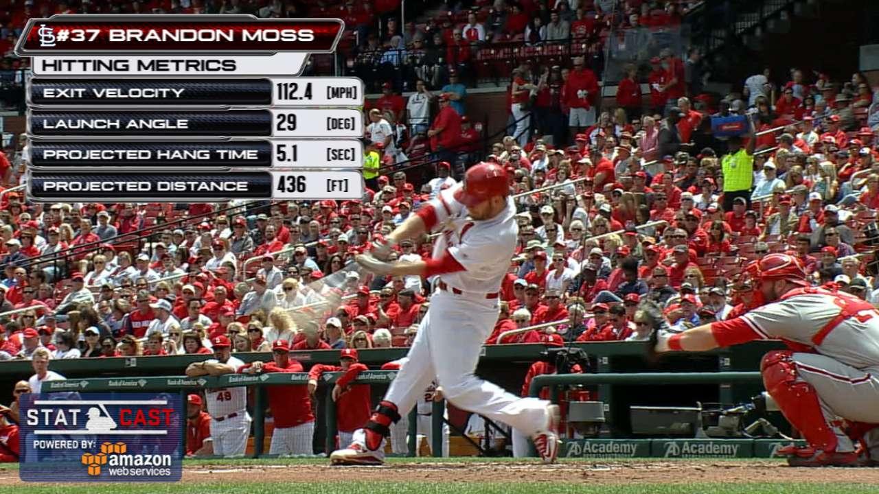 Statcast: Moss' long homer