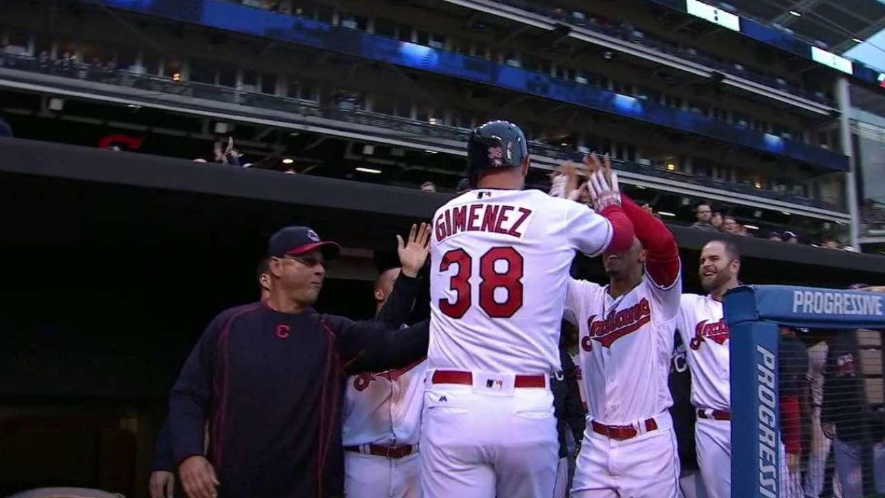 Gimenez's first homer of 2016