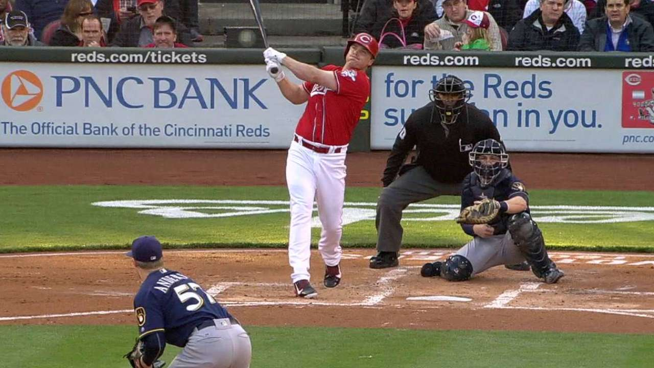 Simon, early homers lead Reds past Brewers