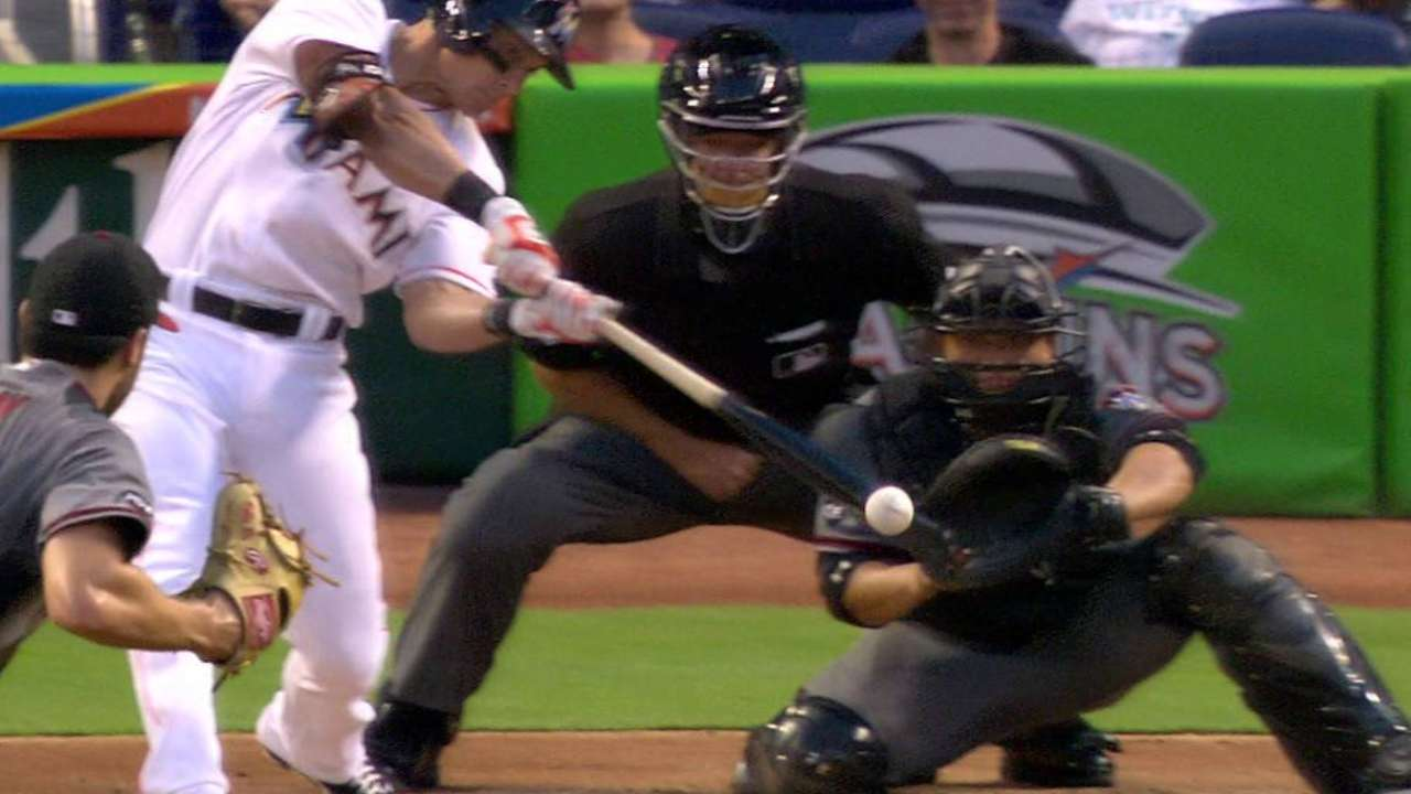 Dietrich's RBI single to center