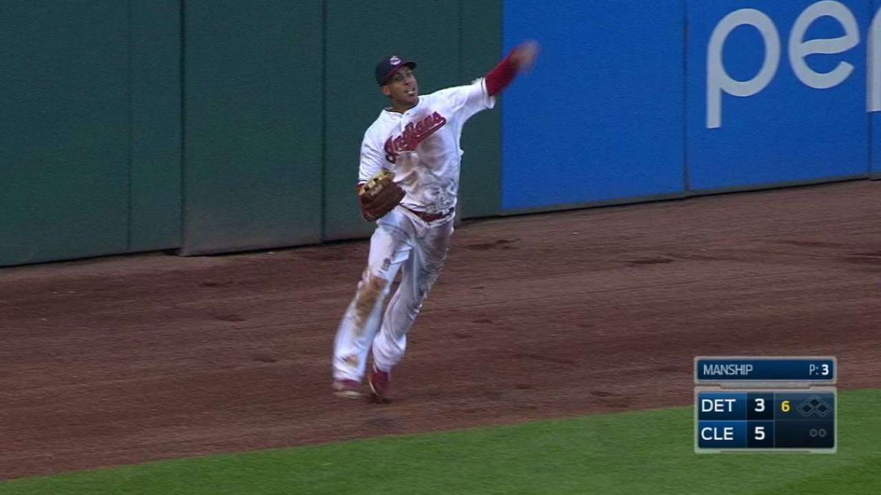 Brantley's diving grab ends 6th