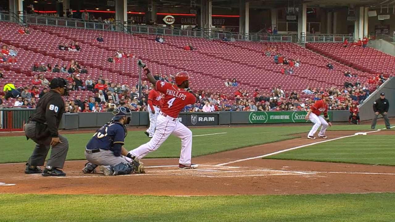 Reds' five-run 1st inning