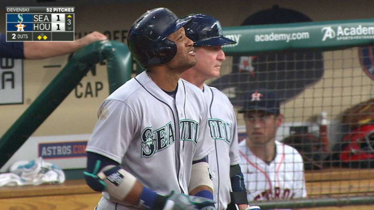 Aoki setting table for RBI leader Cano