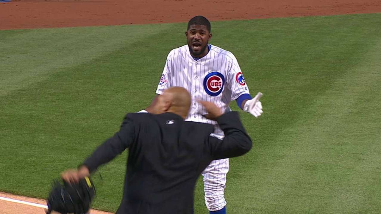 Fowler gets tossed from the game