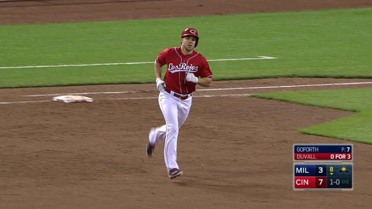 Duvall finding groove as everyday left fielder