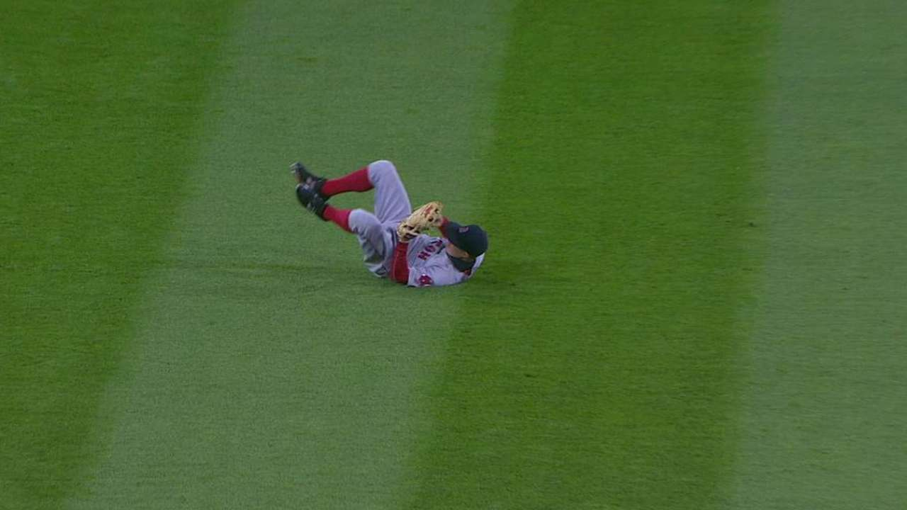 Holt's great grab