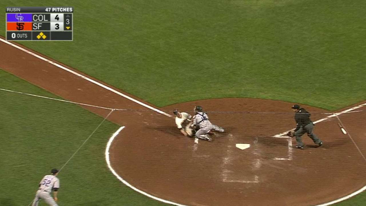 Gonzalez's throw to the plate