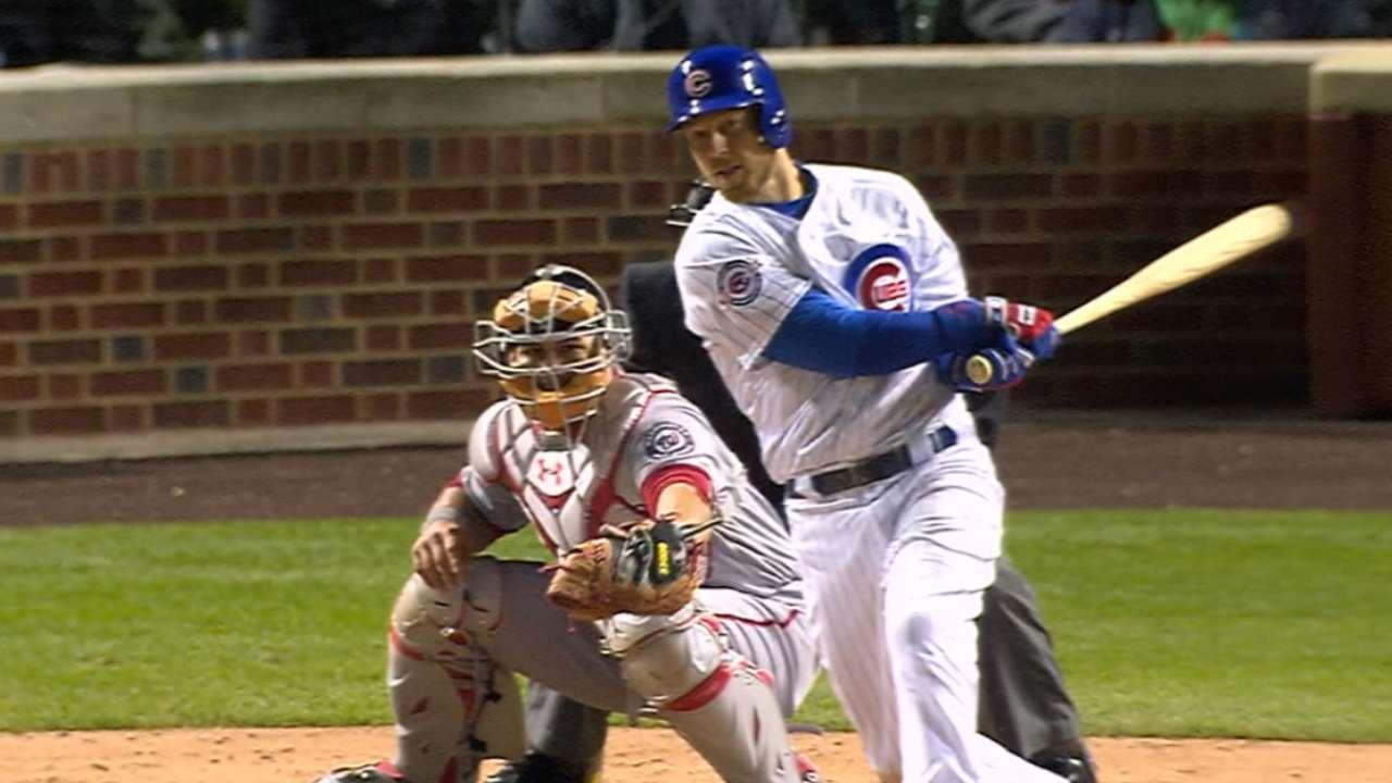 Cubs swat Nats as Zobrist's bat logs 4 RBIs