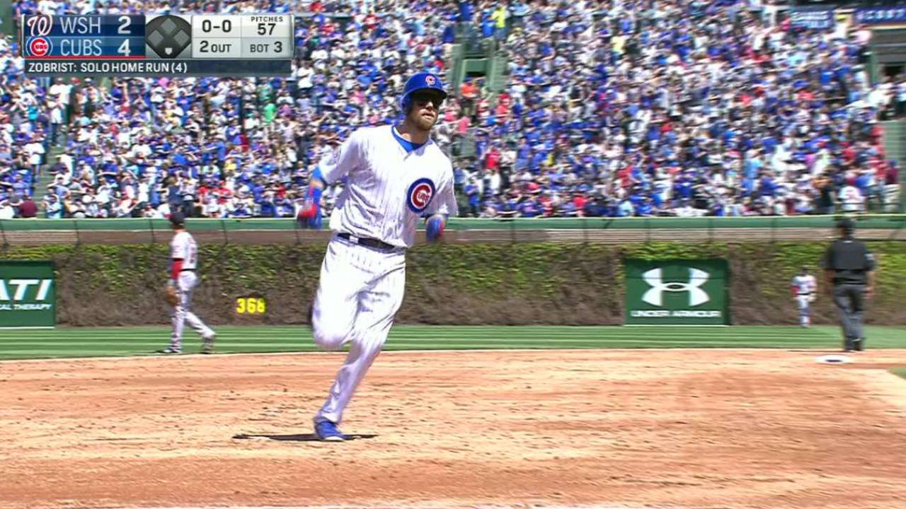Cubs jump on Scherzer with 4 HRs for win