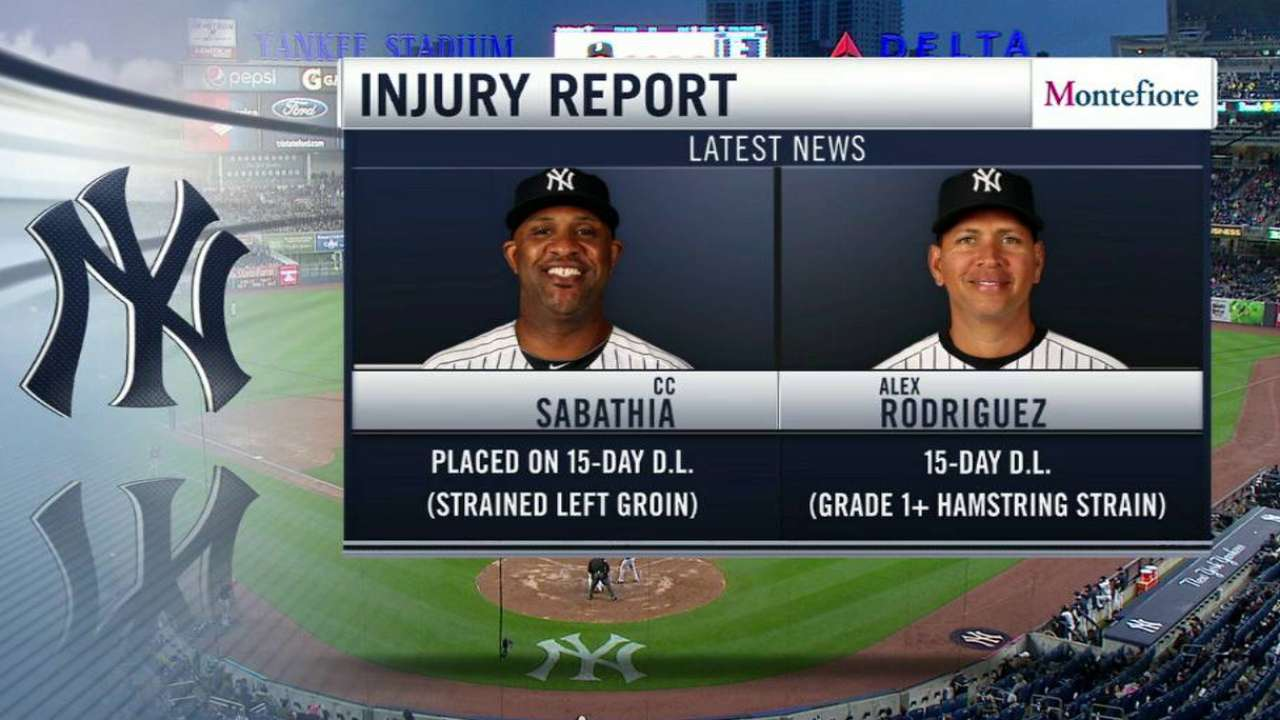 A-Rod diagnosed with Grade 'one-plus' hamstring strain