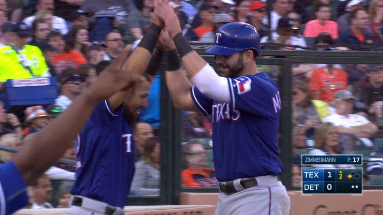 Andrus lines an RBI double