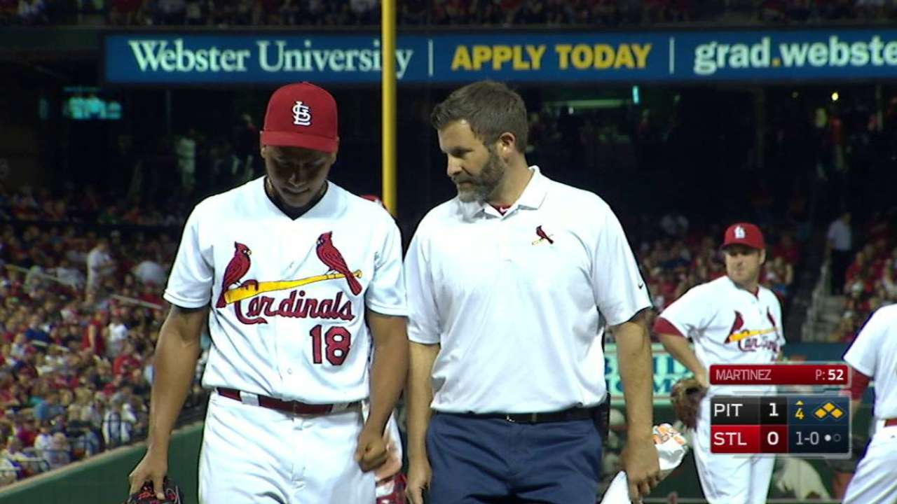 Martinez leaves the game in 4th