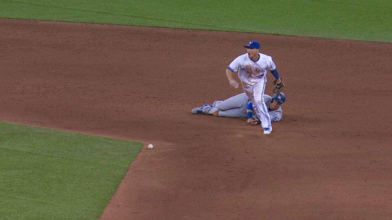 Donaldson throws Pederson out