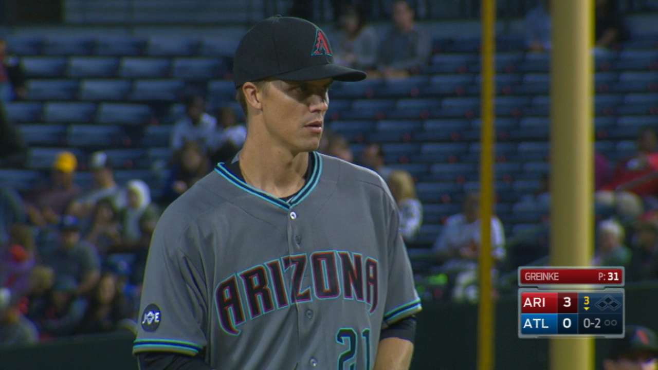 Greinke fans eight in win