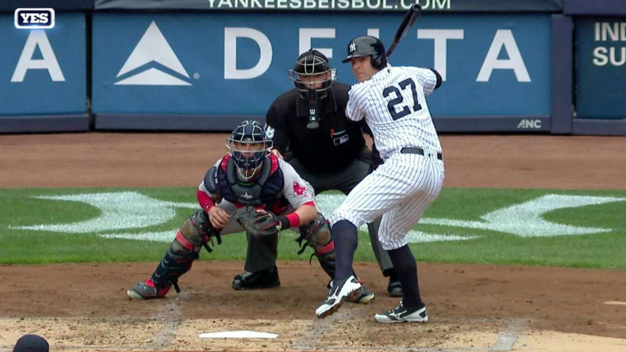 Positive signs for Romine at the plate