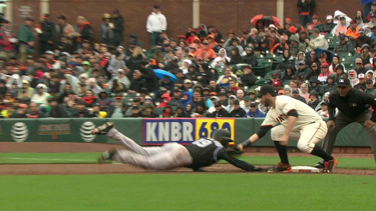 Giants get Blackmon on review
