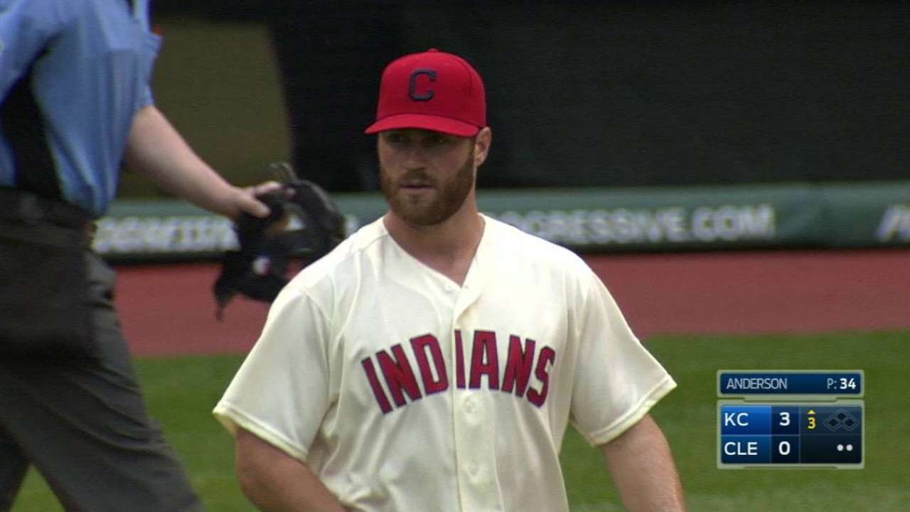 Tribe skipping Anderson's turn in rotation