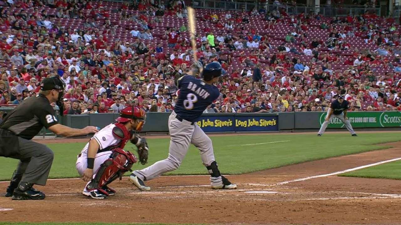 Braun's solo home run
