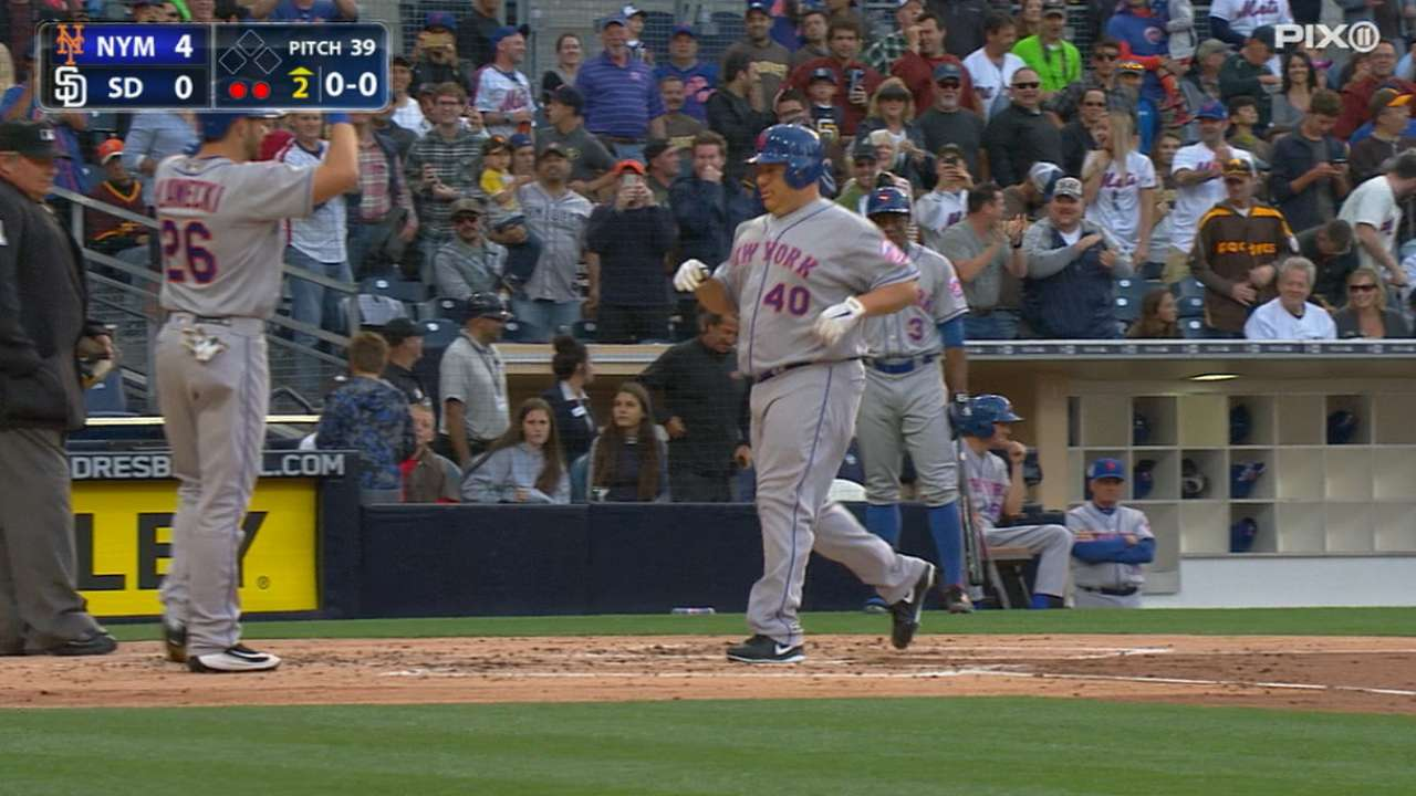 Colon's first career home run