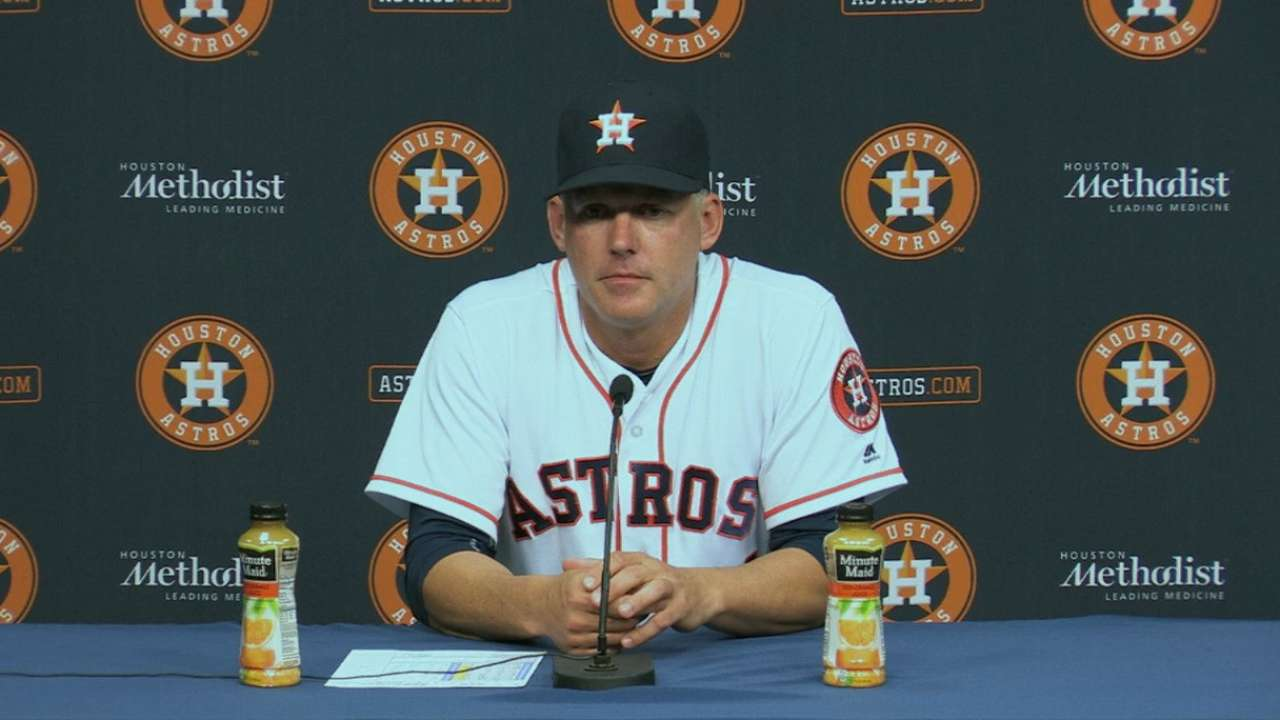 Hinch on 3-2 loss to Mariners