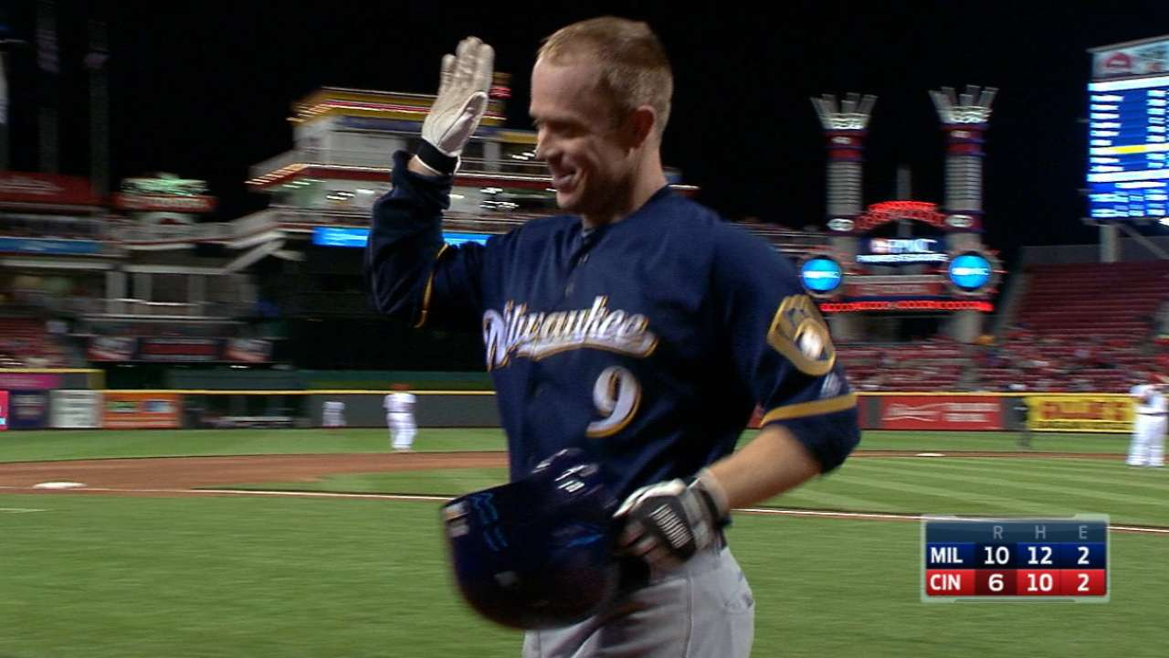 Brewers score seven in the 10th