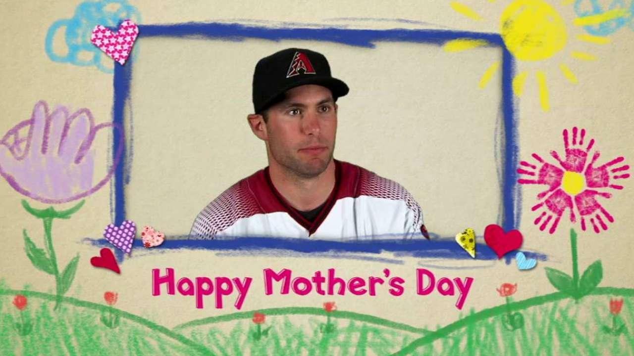 Herrmann, D-backs celebrate Mother's Day in style