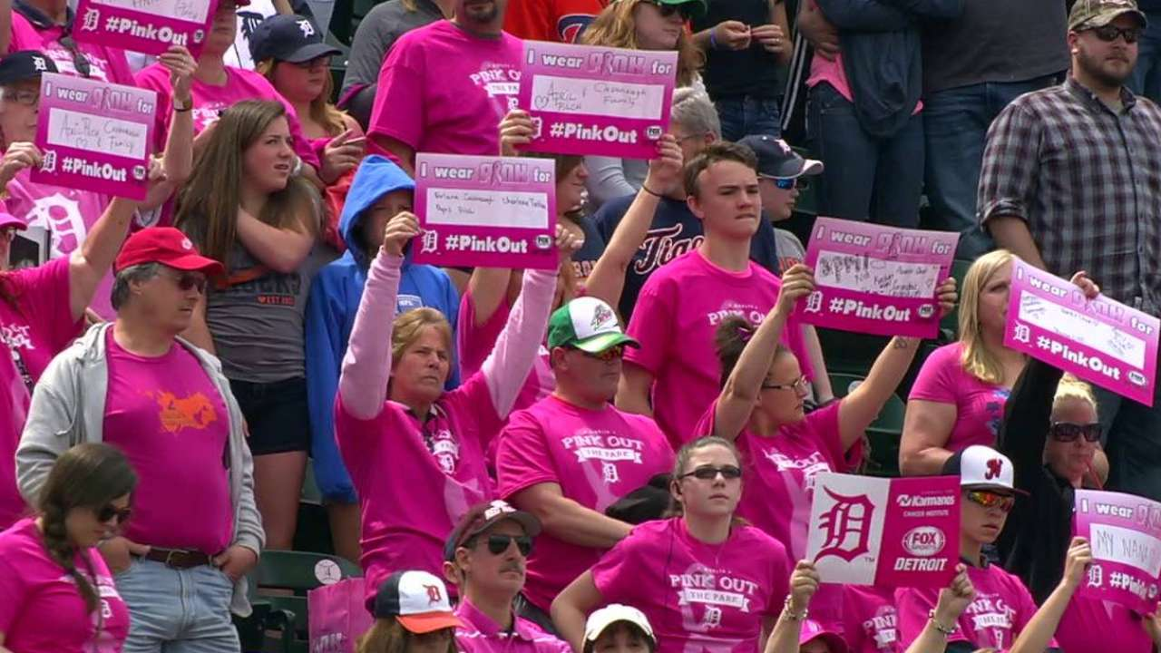 Pink Out the Park at Comerica