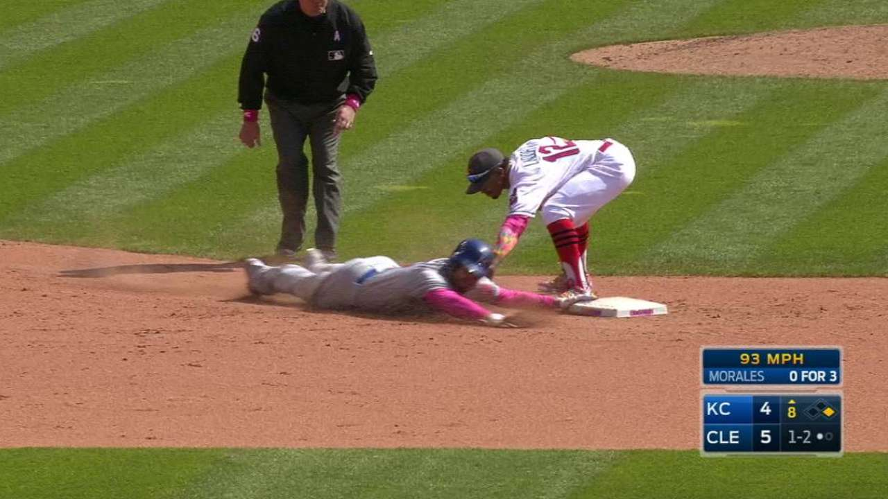 Indians turn the double play