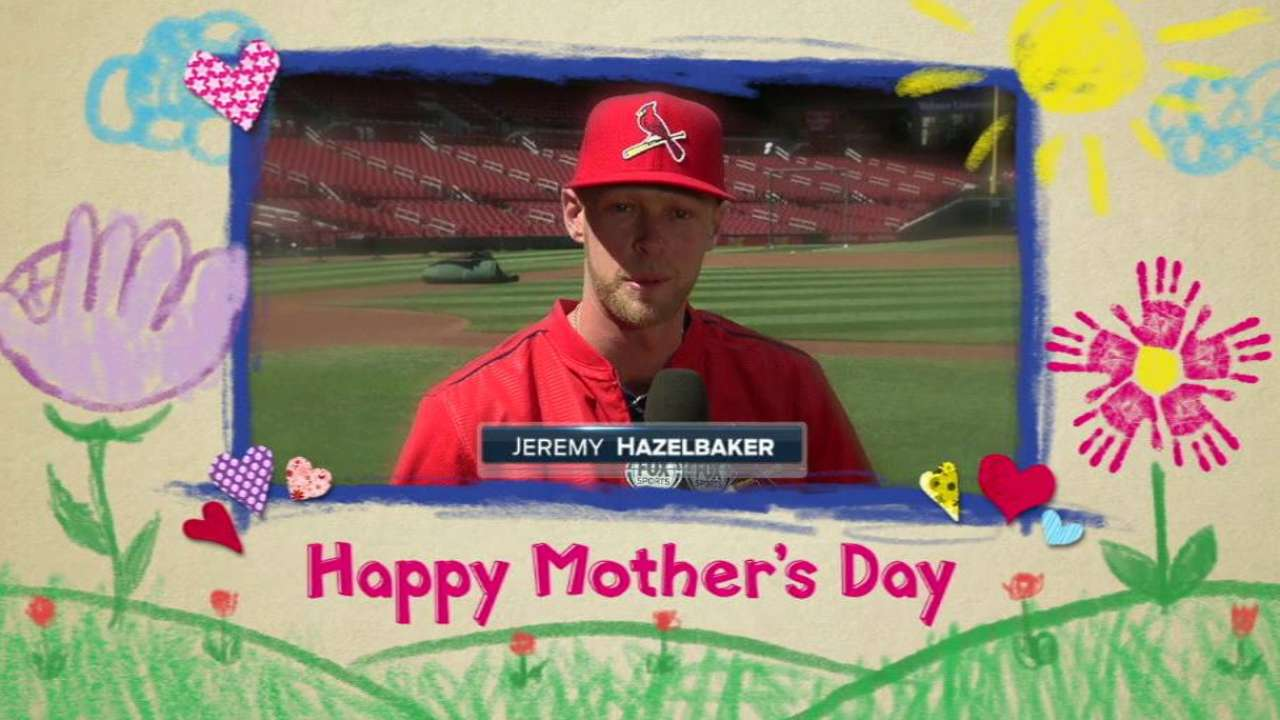 Hazelbaker sends wishes to moms