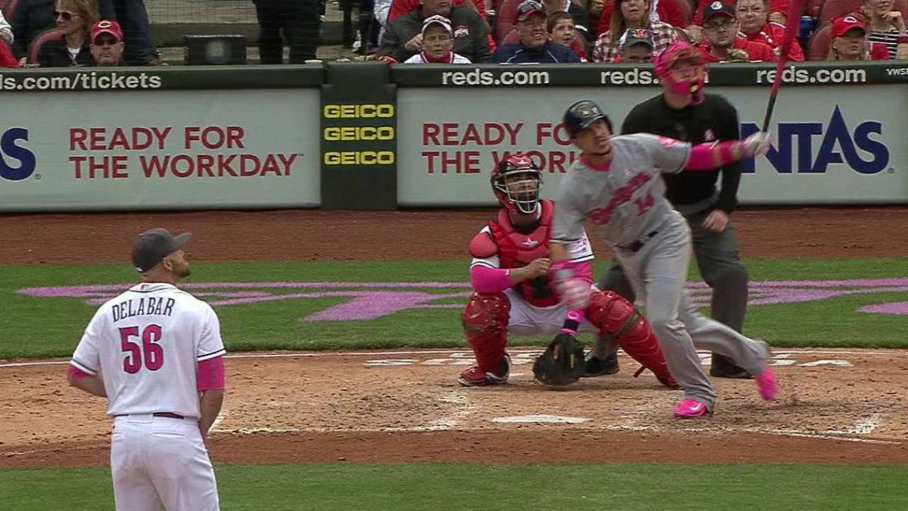 Brewers show pop with special pink bats
