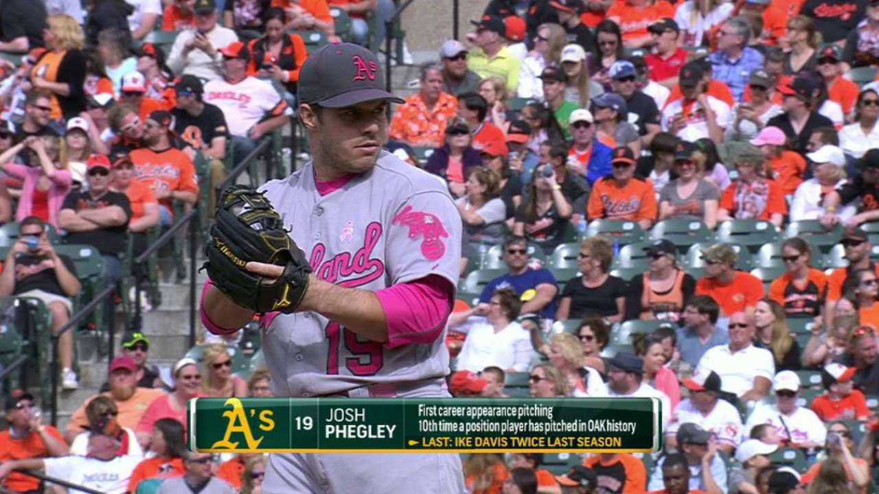 Phegley's first career strikeout