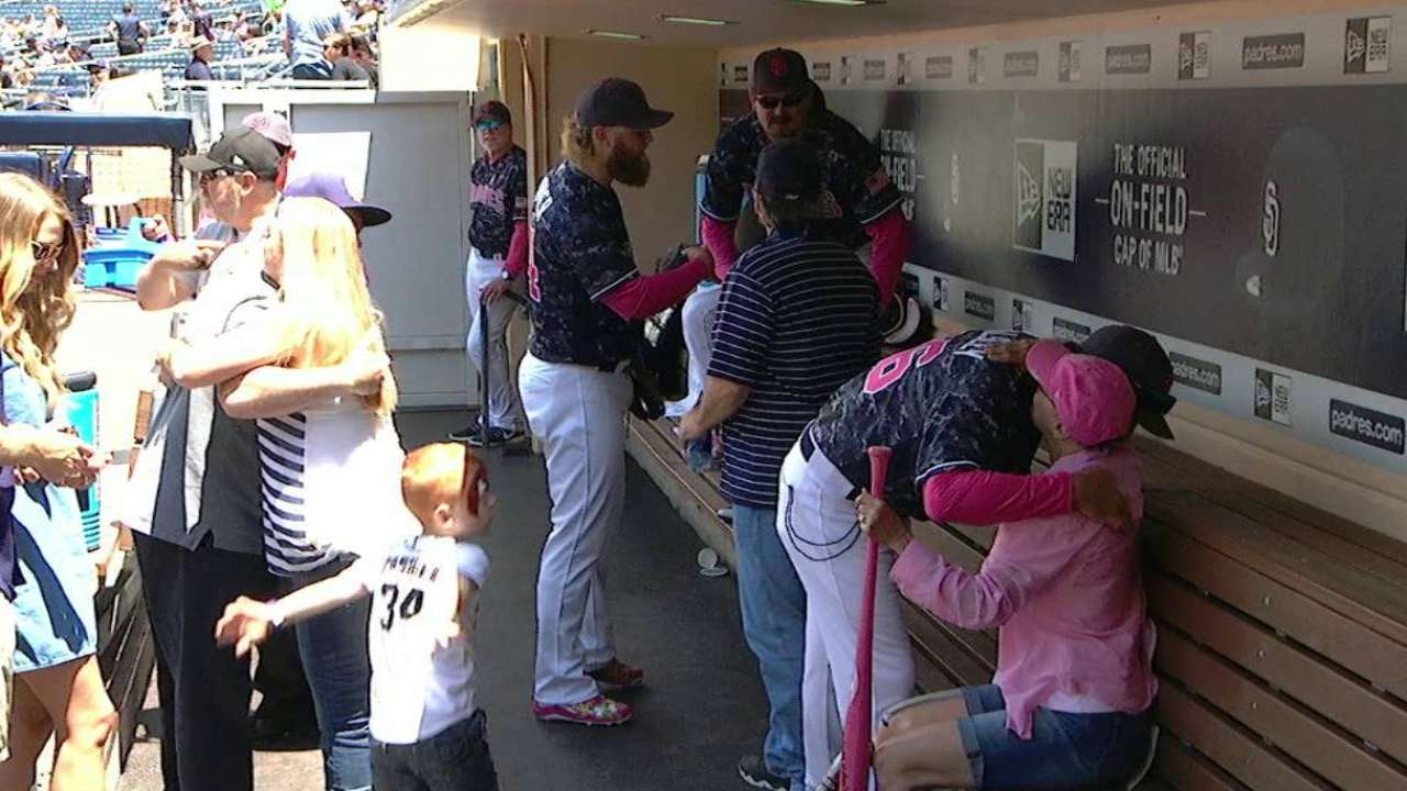 Padres don pink to pay tribute to mothers