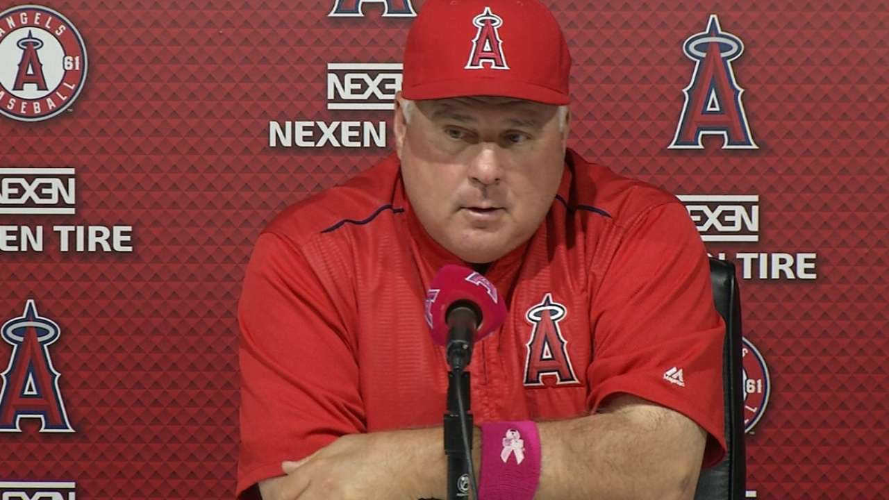 Scioscia presser on loss to TB