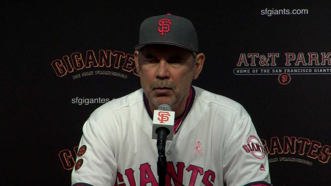 Bochy surprised by offensive rut