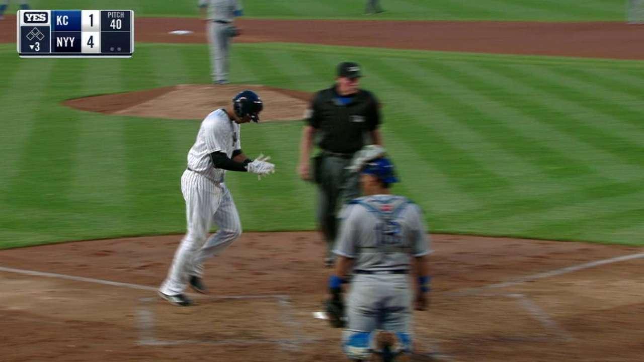 Yanks' injuries giving Hicks, Ackley regular ABs