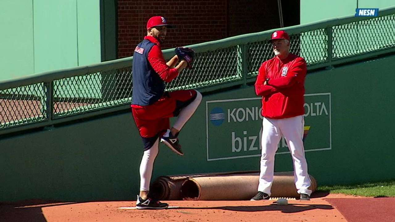 Price hones delivery in bullpen session