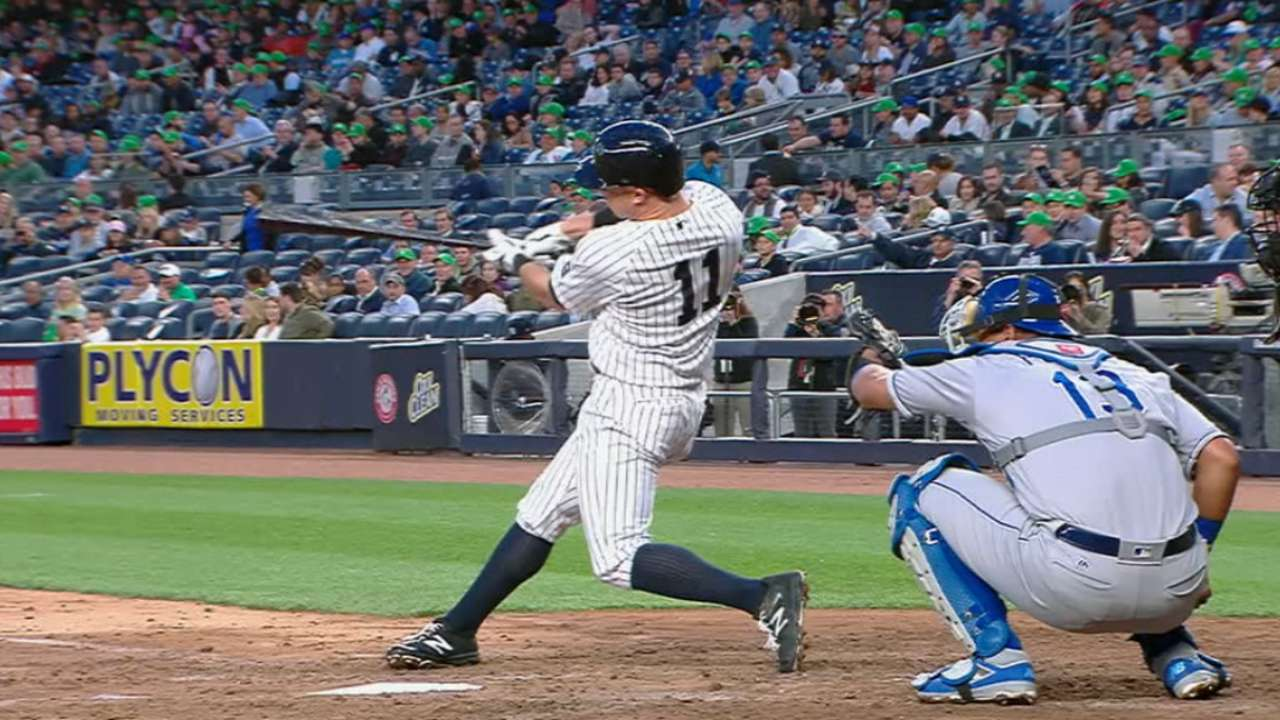 Yankees hit three homers in 3rd