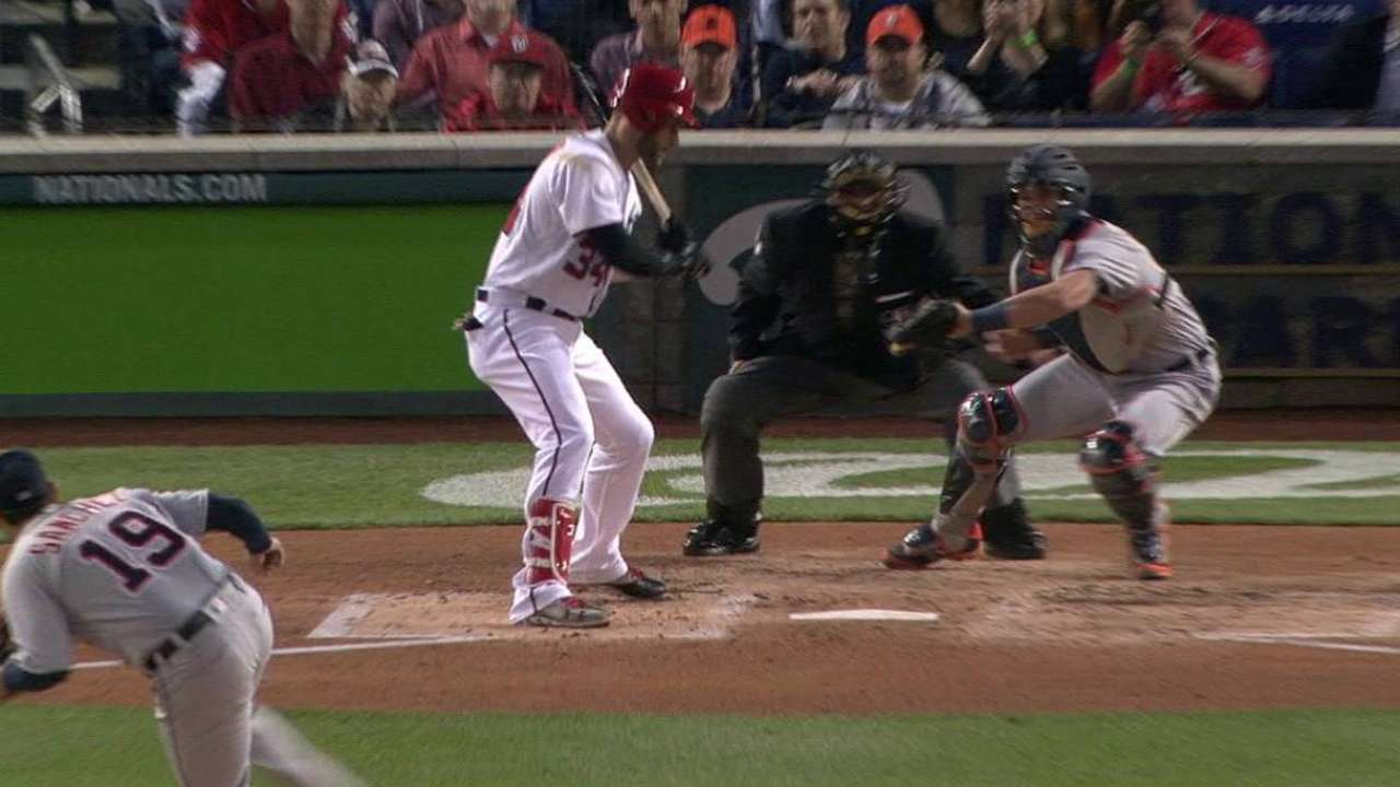 Sanchez strikes out Harper