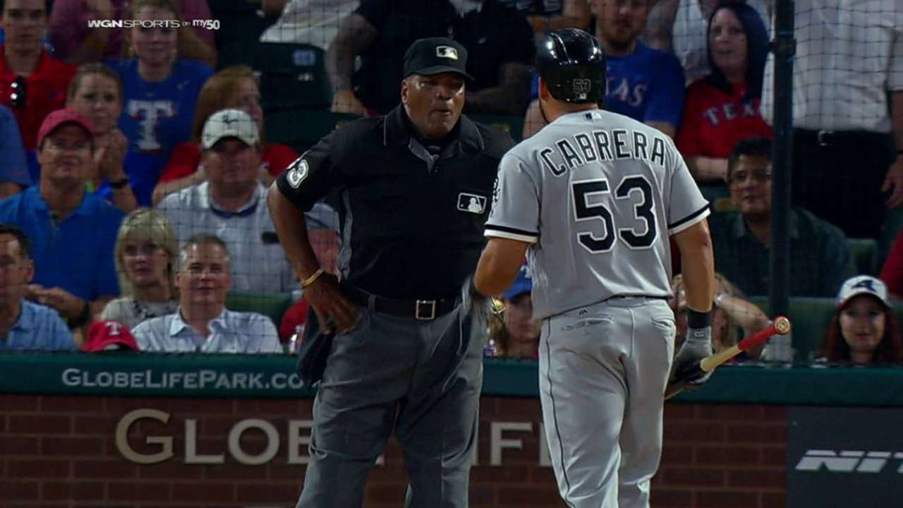 Cabrera ejected after arguing