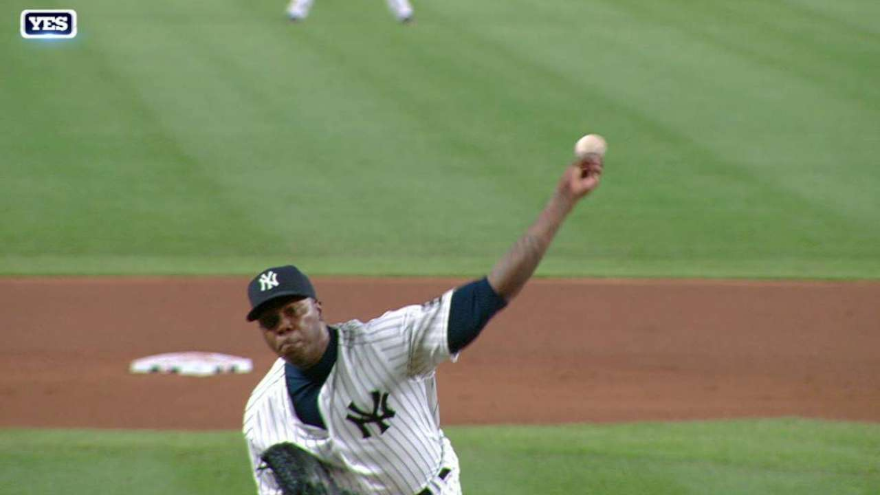 Chapman's first K with Yanks