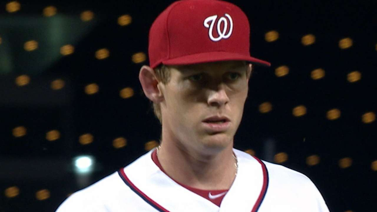 Strasburg strikes out 11