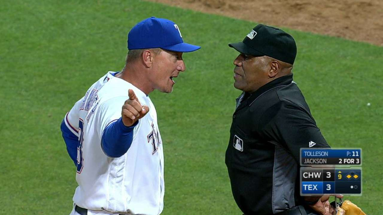 Banister is ejected from game