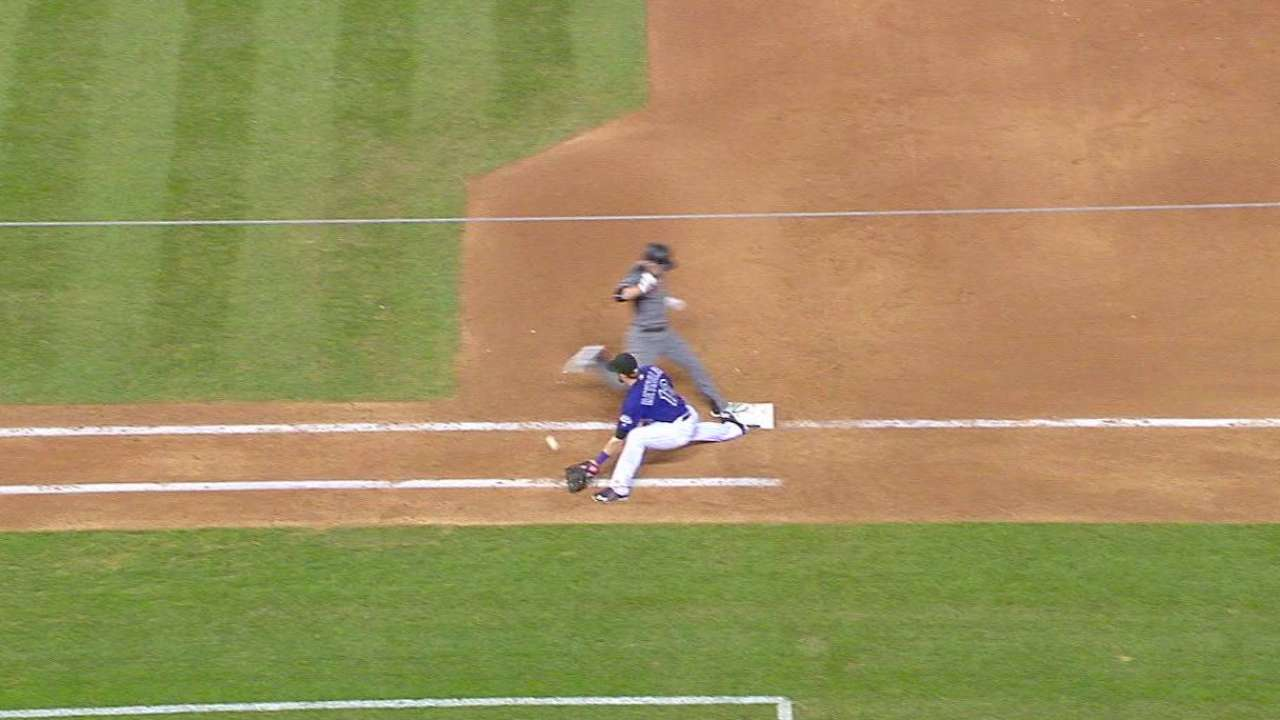 Gosselin safe at first