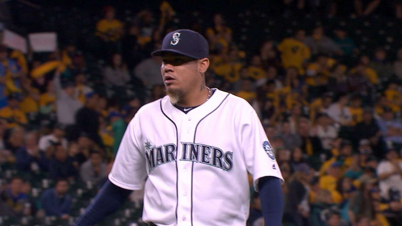 Felix now rules all Mariners pitchers