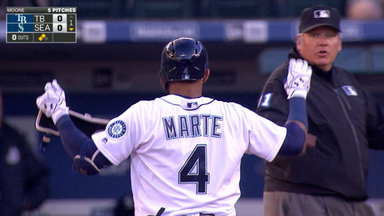 Mariners like Marte, but could acquire SS help