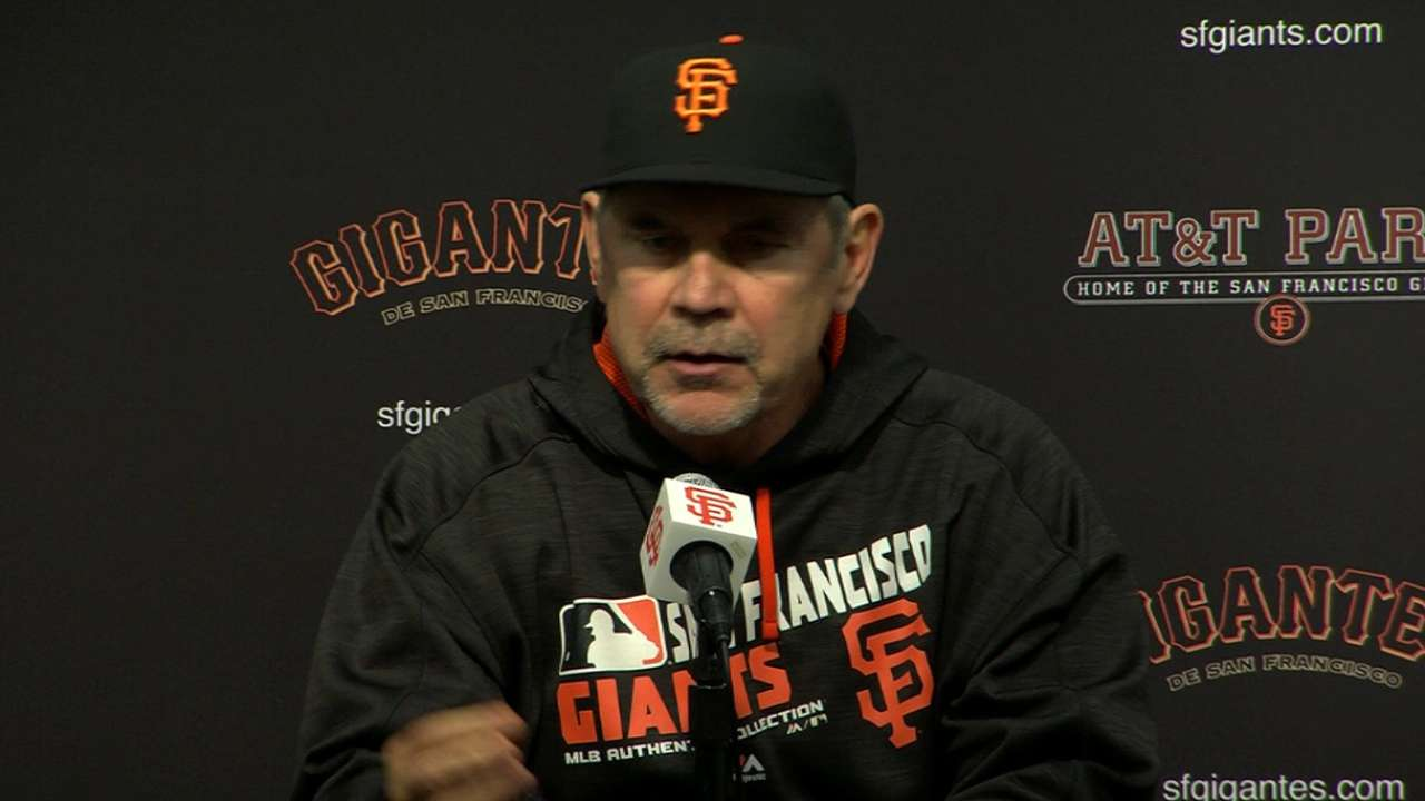 Bochy on 3-1 loss to Blue Jays